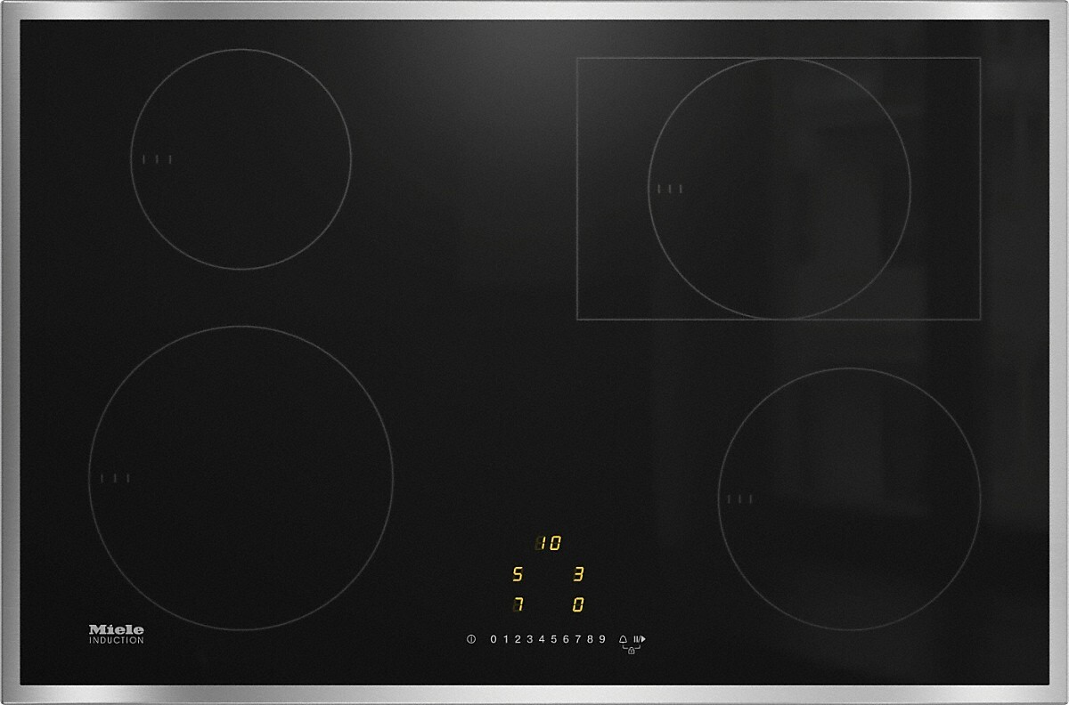 Miele KM7210 Stainless Steel Wide Frame Induction Hob