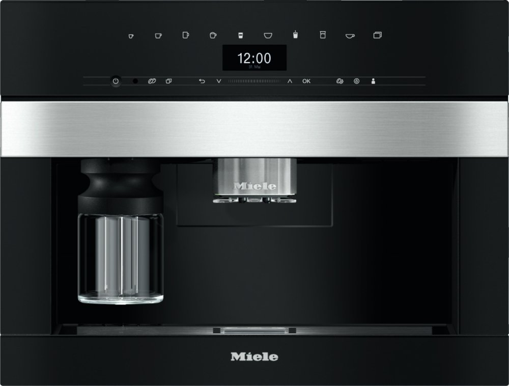Miele PureLine CVA7440 CleanSteel Built In Coffee Machine