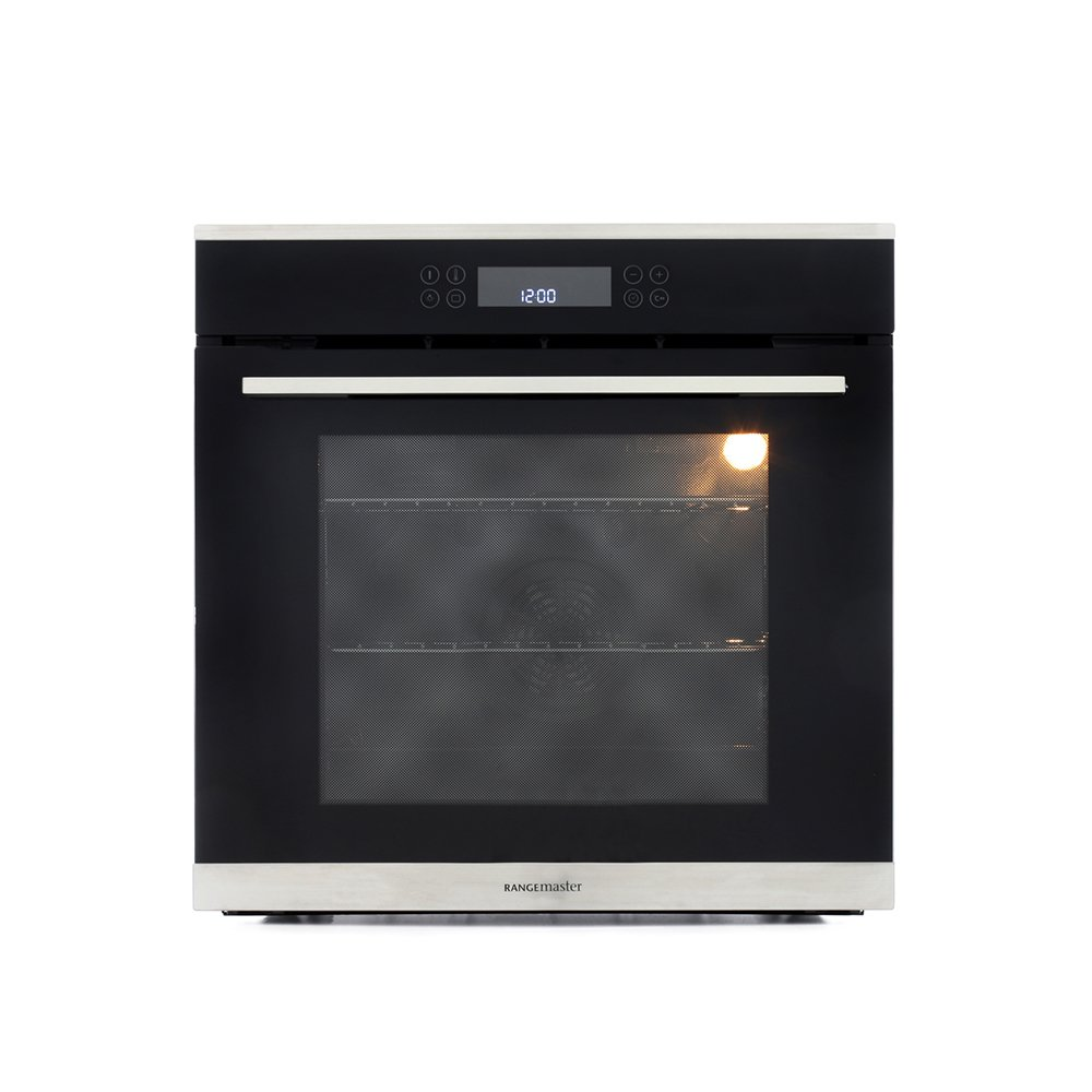 Rangemaster RMB610BL/SS Stainless Steel Single Built In Electric Oven