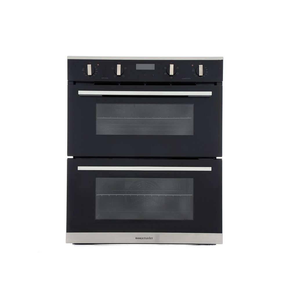 Rangemaster RMB7245BL/SS Stainless Steel Double Built Under Electric Oven