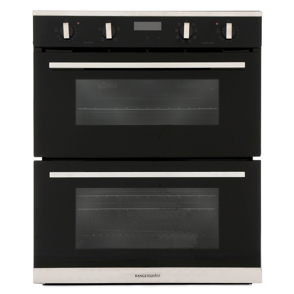 Rangemaster RMB7248BL/SS Stainless Steel Double Built Under Electric Oven