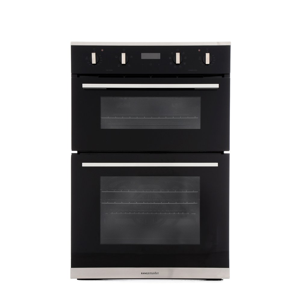 Rangemaster RMB9048BL/SS Stainless Steel Double Built In Electric Oven
