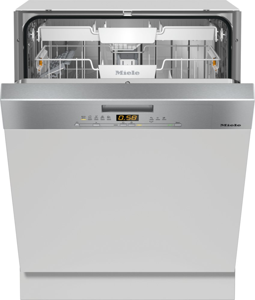 Miele G5000 SCi CleanSteel Built In Semi Integrated Dishwasher