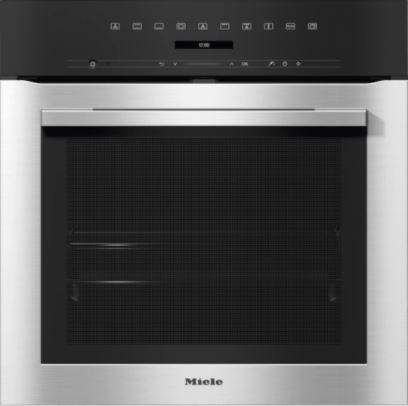 Miele H7162BP EDST CleanSteel Single Built In Electric Oven