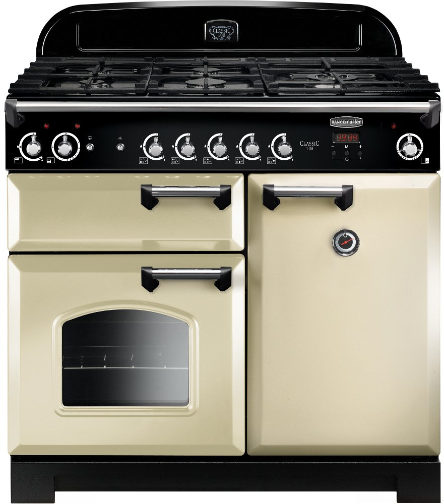 Rangemaster CLA100NGFCR/C Classic Cream with Chrome Trim 100cm Gas Range Cooker