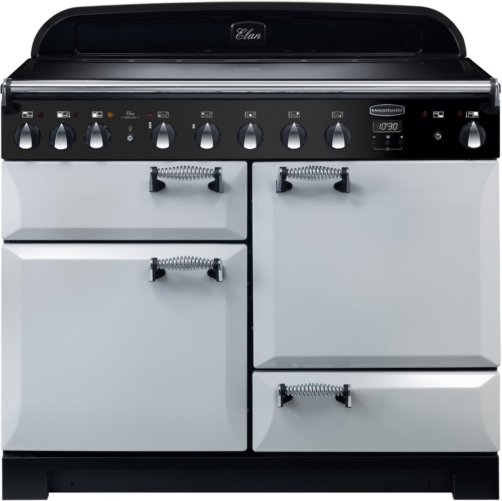 Rangemaster ELA110EIRP Elan Deluxe Royal Pearl with Chrome Trim 110cm Electric Induction Range Cooker