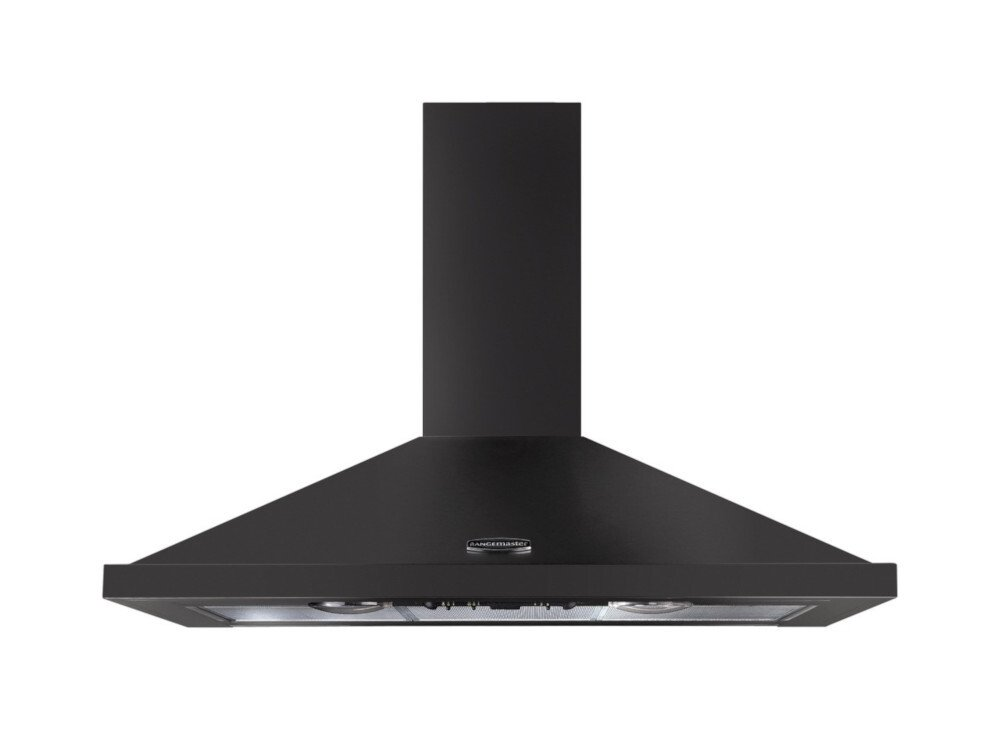 Rangemaster LEIHDC90SL/C Slate and Chrome 90cm Chimney Hood