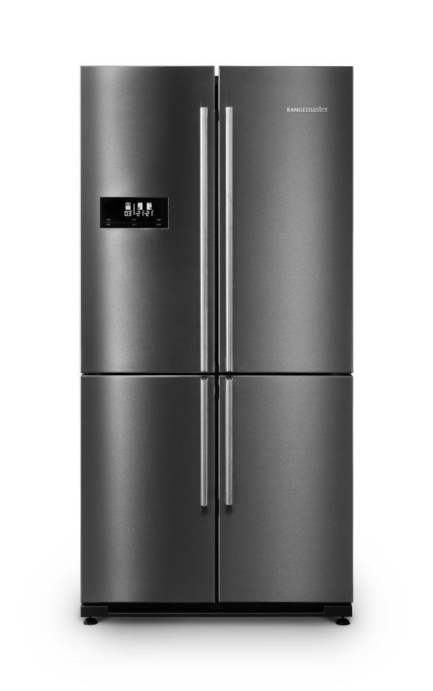 Rangemaster RSXS18DI/C Dark Inox with Chrome Trim American Fridge Freezer