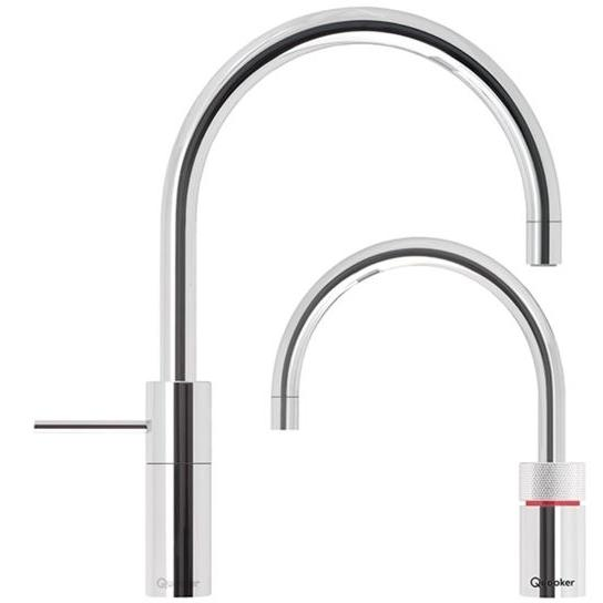 Quooker Combi 2.2 Nordic Round Chrome Boiling Water Twin Tap