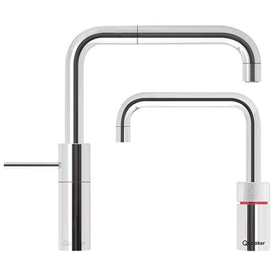 Quooker Combi 2.2 Nordic Square Chrome Boiling Water Twin Tap