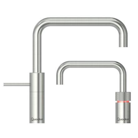 Quooker Combi 2.2  Nordic Square Stainless Steel Boiling Water Twin Tap