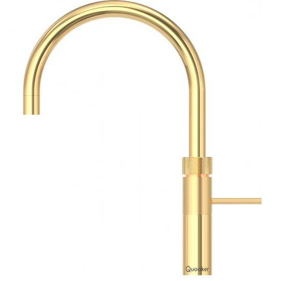Quooker PRO3 Fusion Round Gold 3 in 1 Boiling Water Tap
