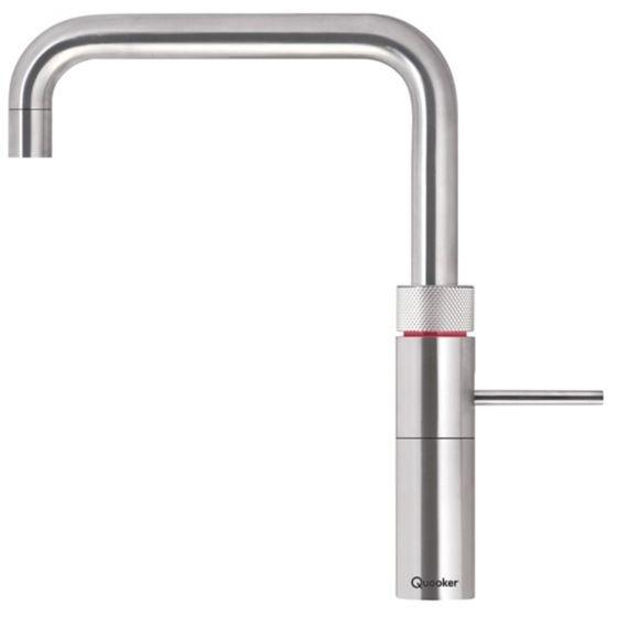 Quooker PRO3 Fusion Square Stainless Steel 3 in 1 Boiling Water Tap