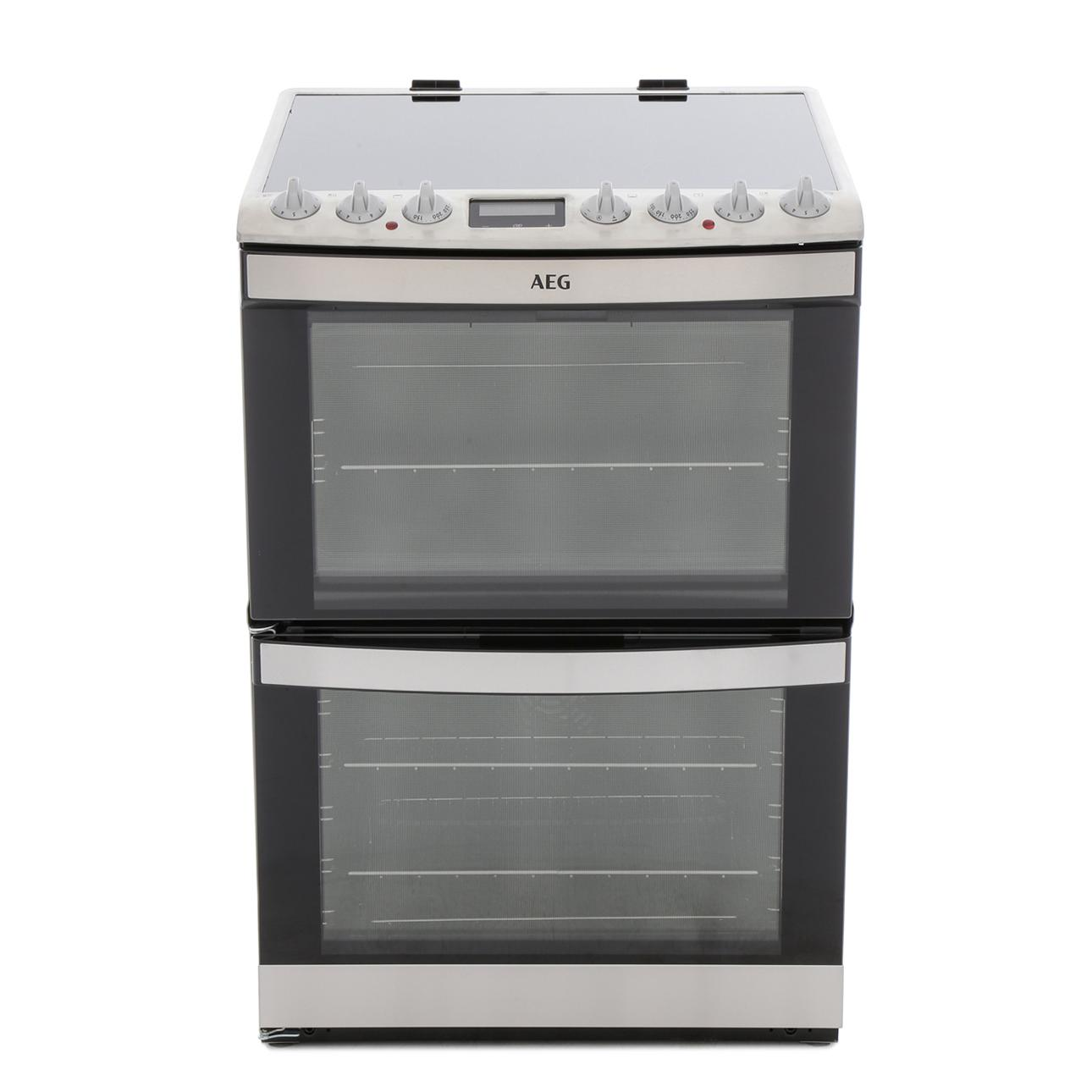 AEG 43102V-MN Ceramic Electric Cooker with Double Oven