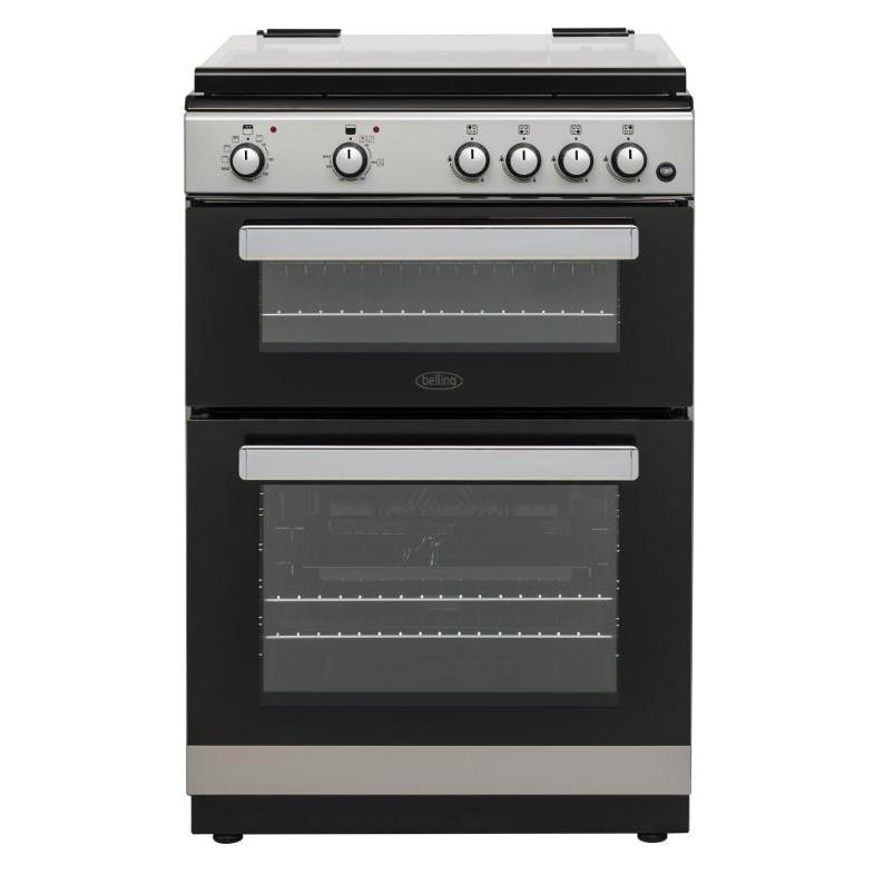Belling FSDF608D Silver Dual Fuel Cooker