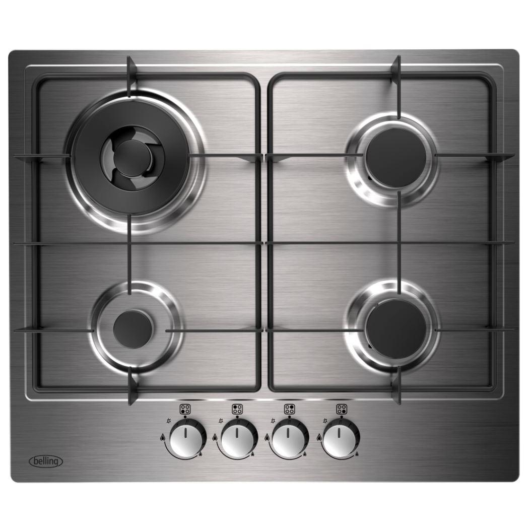 Belling GHU602GC Stainless Steel 4 Burner Gas Hob