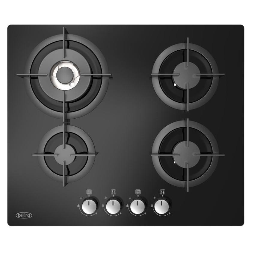 Belling GTG60C Black 4 Burner Gas Hob