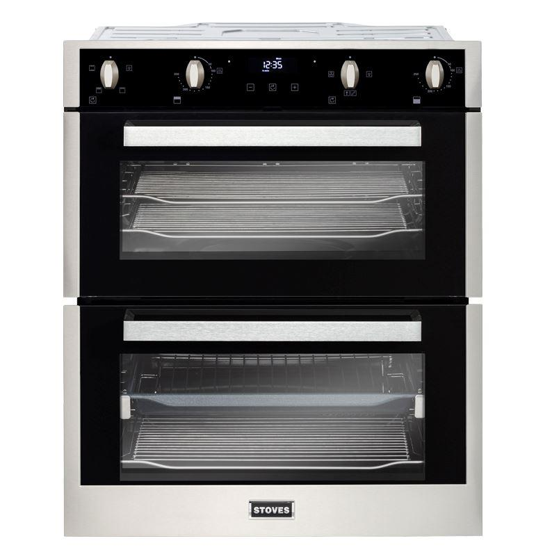 Stoves BI702MFCT Stainless Steel Double Built Under Electric Oven