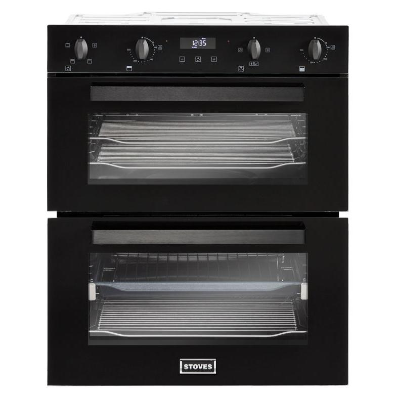 Stoves BI702MFCT Black Double Built Under Electric Oven