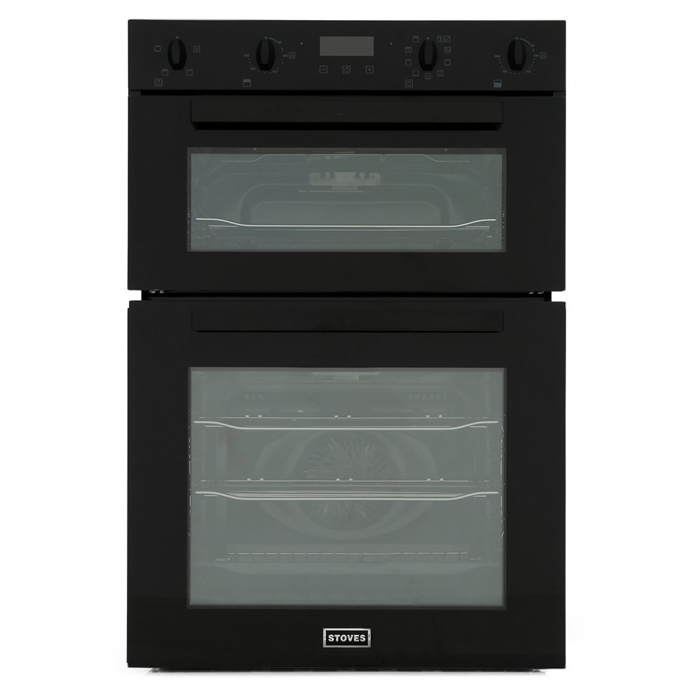 Stoves BI902MFCT Black Double Built In Electric Oven