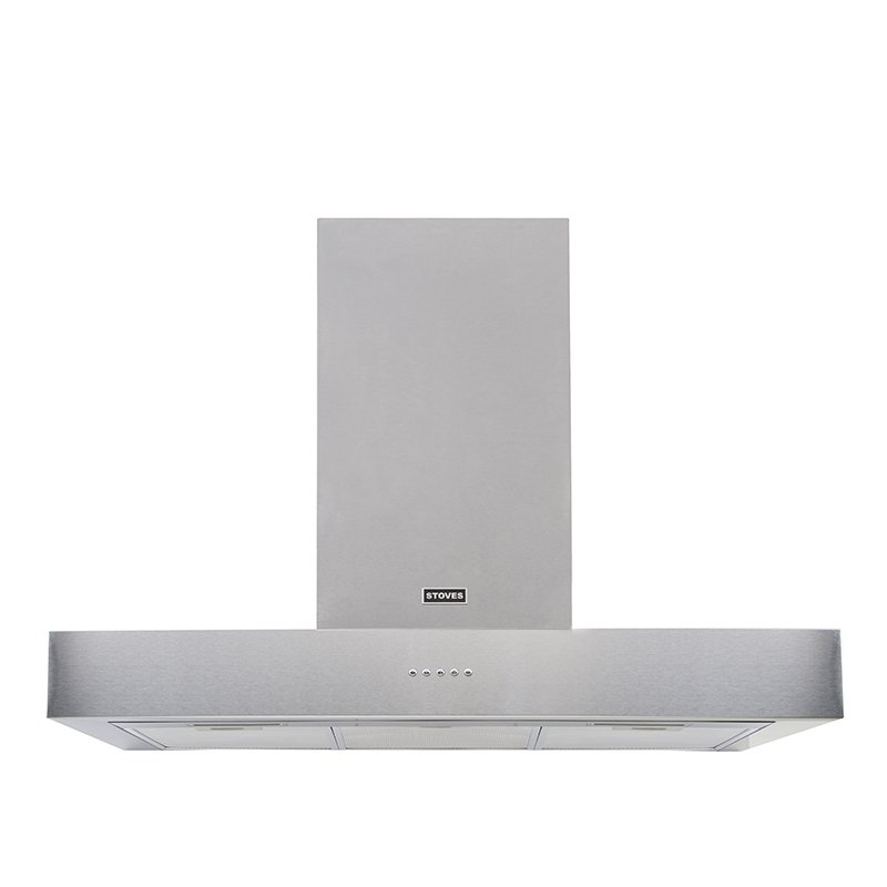 Stoves Sterling S900 Flat Stainless Steel 90cm Chimney Hood
