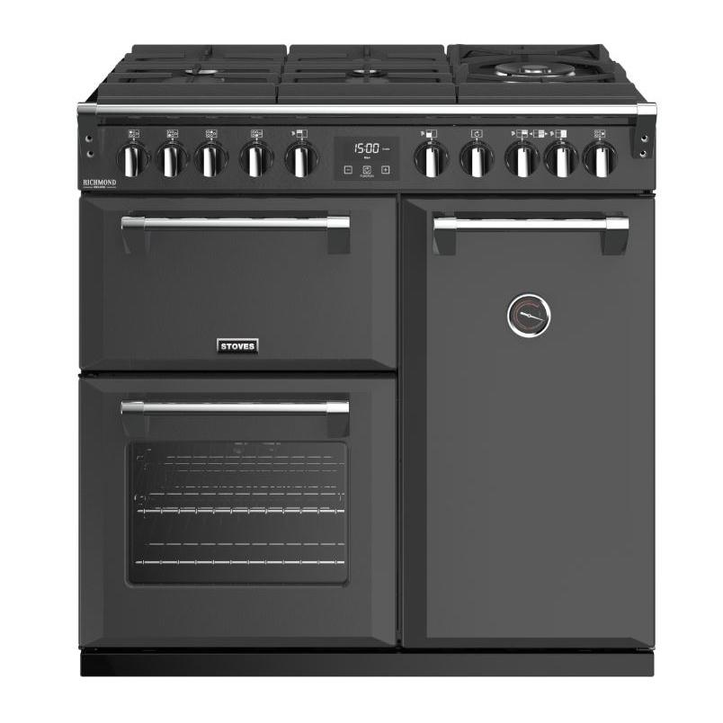 Stoves Richmond DX S900DF GTG CB Anthracite 90cm Dual Fuel Range Cooker