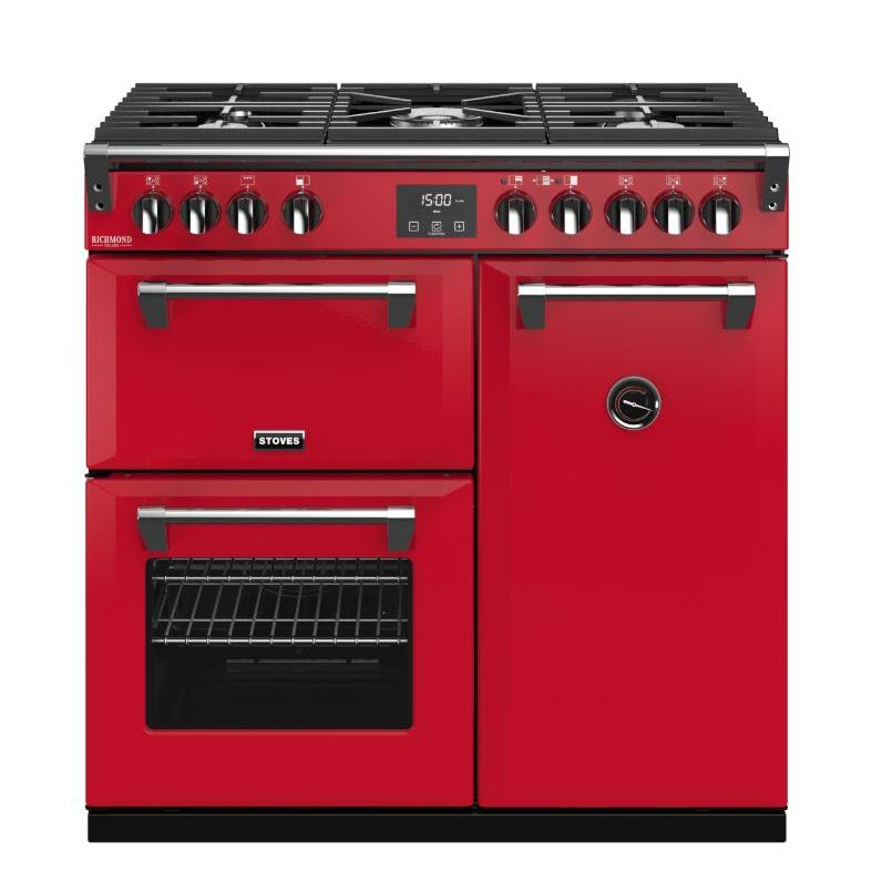 Stoves Richmond DX S900G CB Hot Jalapeno 90cm Gas Range Cooker