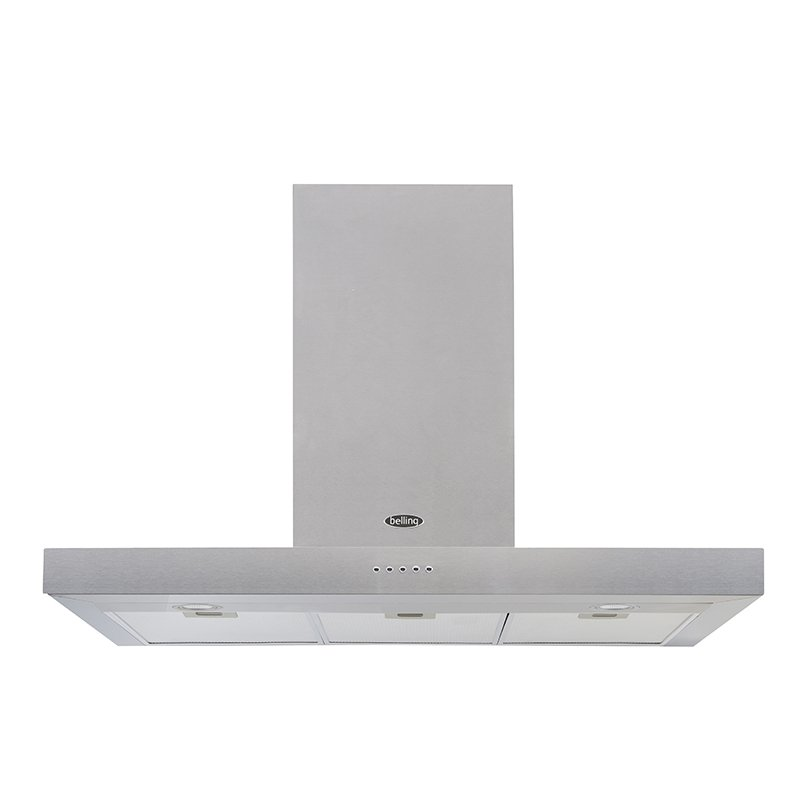 Belling Cookcentre Flat Stainless Steel 90cm Chimney Hood