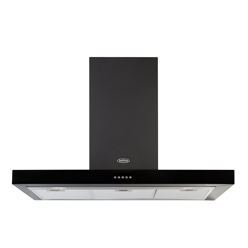 Belling Cookcentre Flat Black 100cm Chimney Hood