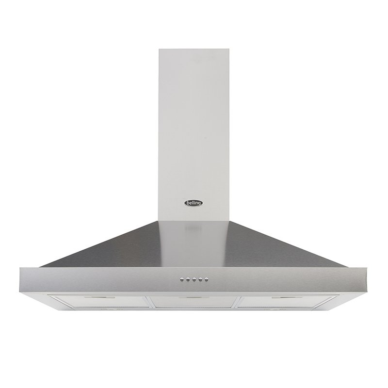 Belling Cookcentre Stainless Steel 90cm Chimney Hood