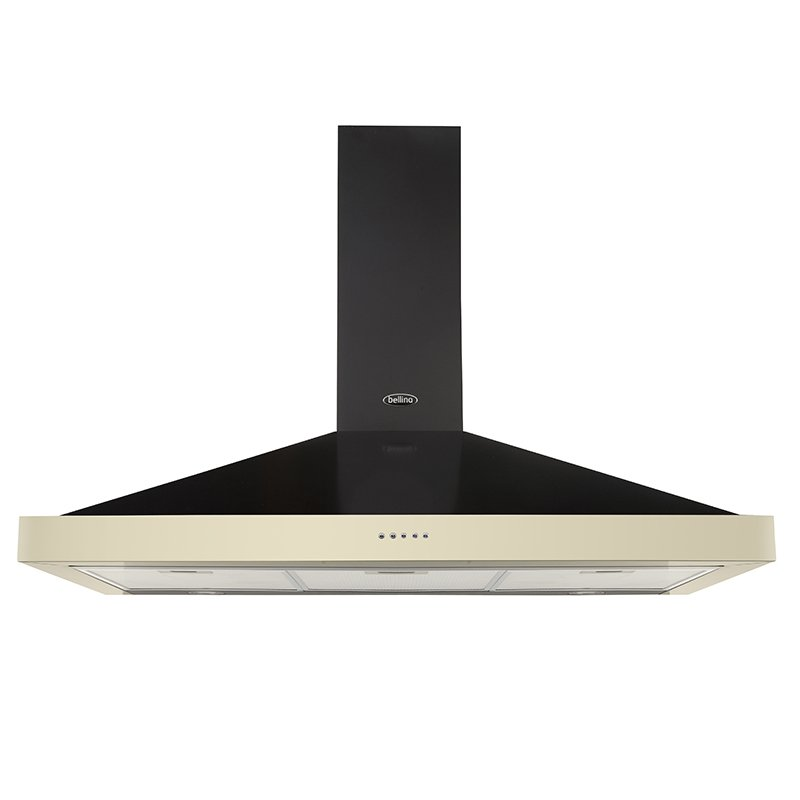 Belling Farmhouse 100 Classic Cooker Hood, Cream