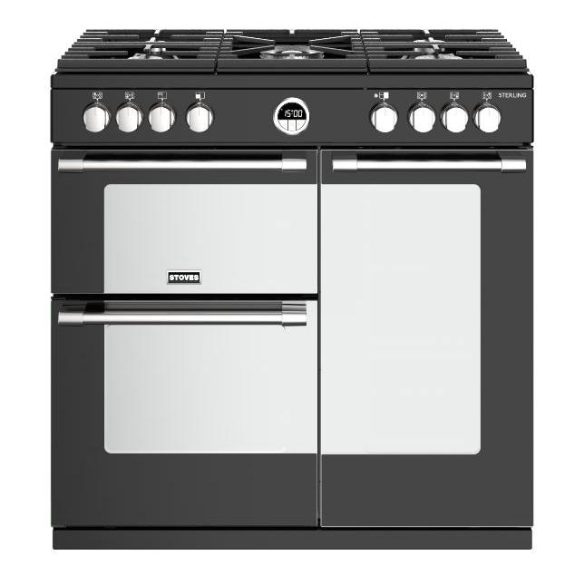 Stoves Sterling S900G Black 90cm Gas Range Cooker