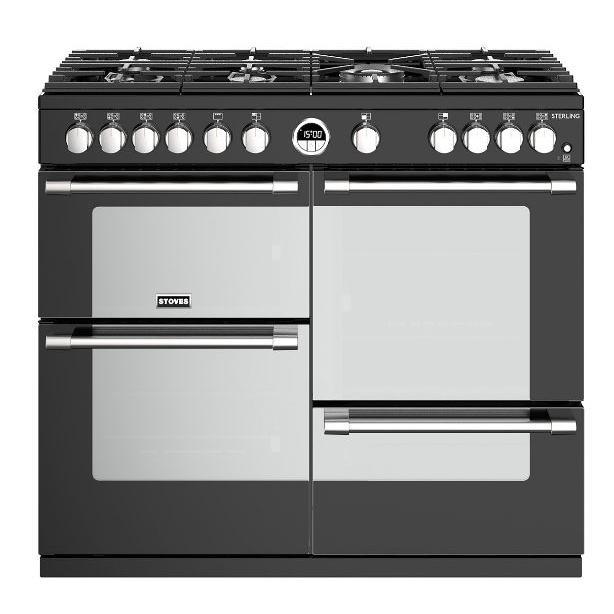 Stoves Sterling S1000G Black 100cm Gas Range Cooker