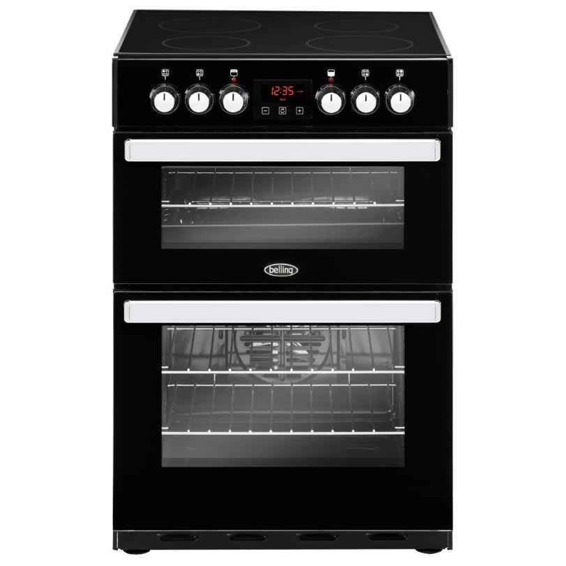 Belling Cookcentre 60E Black Ceramic Electric Cooker with Double Oven