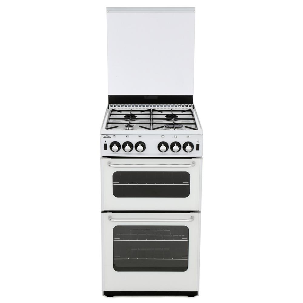 New World Newhome 500TSIDL White Gas Cooker Separate Grill