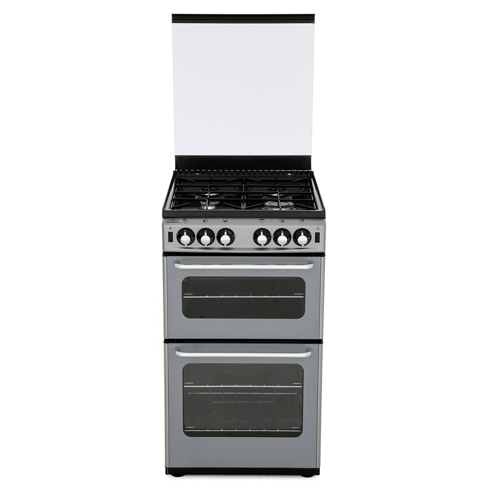 New World Newhome 500TSIDL Silver Gas Cooker Separate Grill
