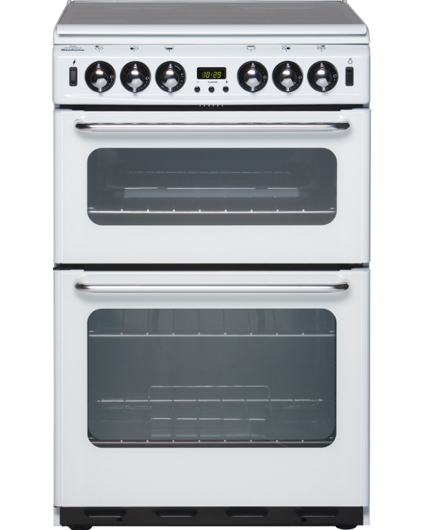 New World Newhome 550TSIDOm White Gas Cooker with Double Oven