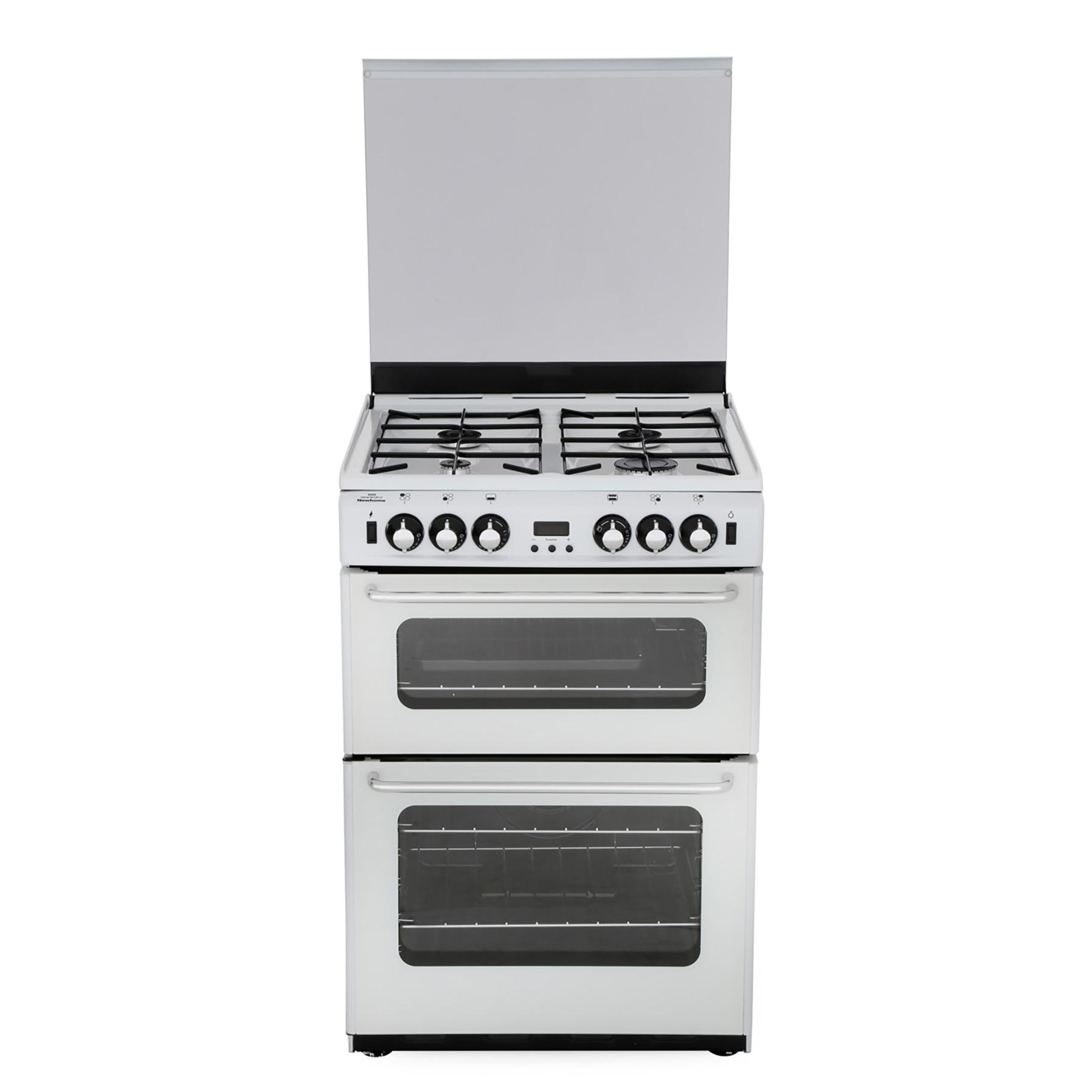 New World Newhome 600TSIDOm White Gas Cooker with Double Oven