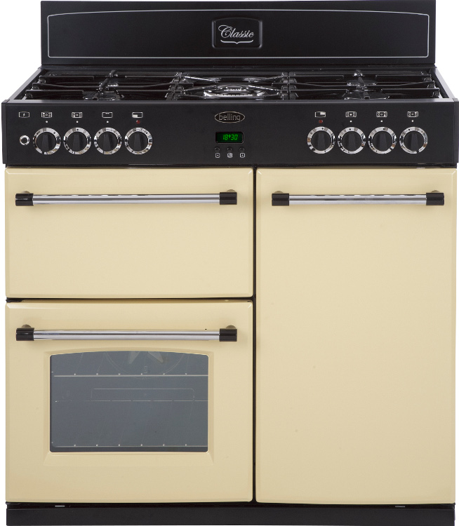 buy belling classic 90dft cream 90cm dual fuel range cooker rh markselectrical co uk Pull Behind Pig Cooker Dual Fuel Cooker