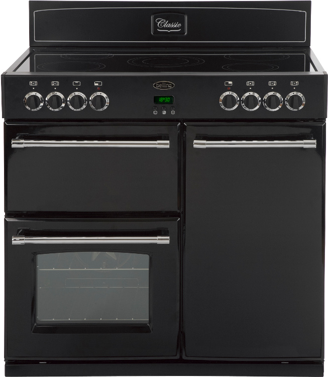 Buy Belling Classic 90e Black 90cm Electric Range Cooker