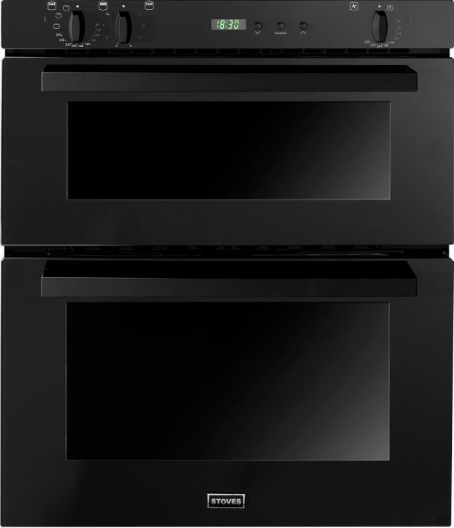 Stoves SEB700FPS Black Double Built Under Electric Oven