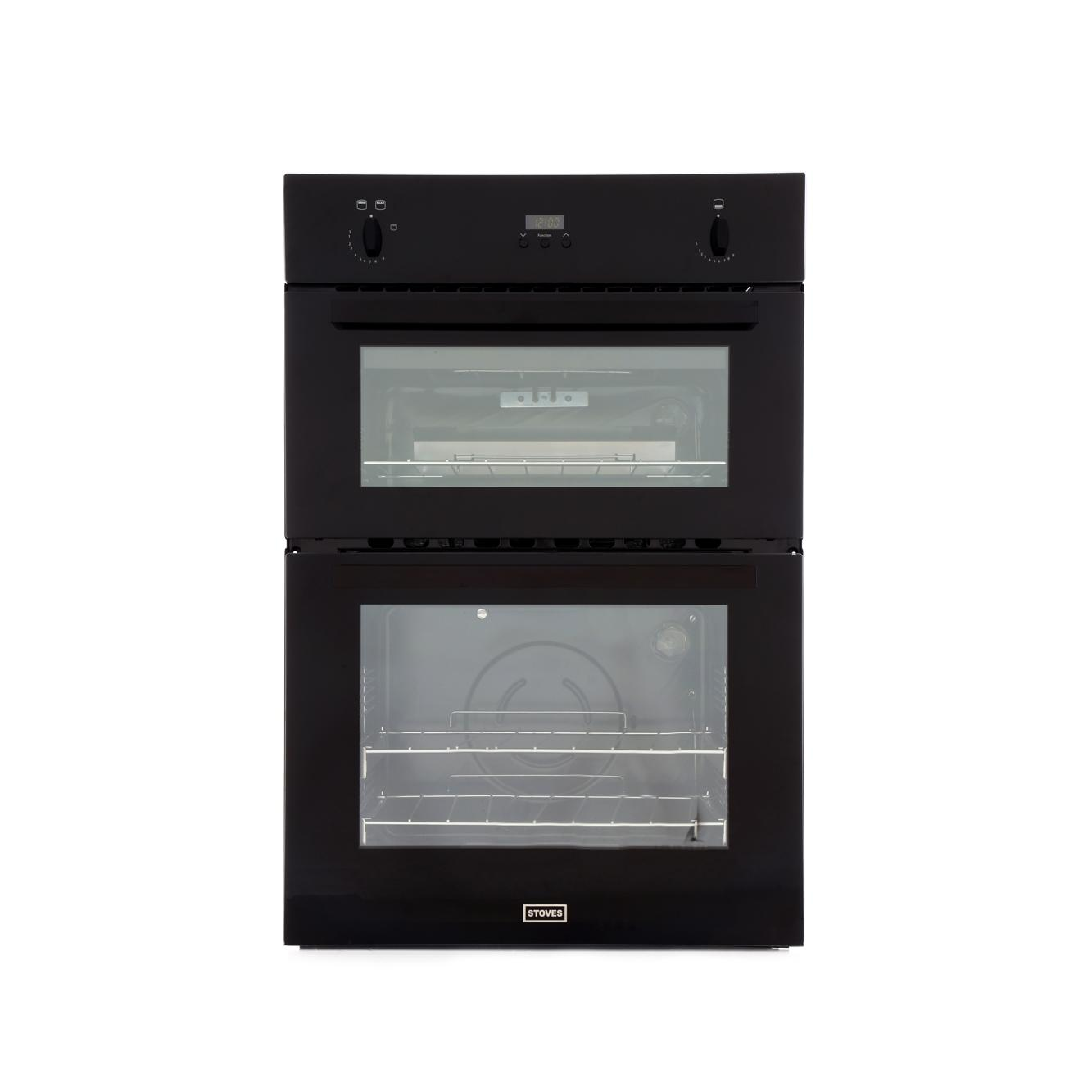 Stoves SGB900PS Black Double Built In Gas Oven