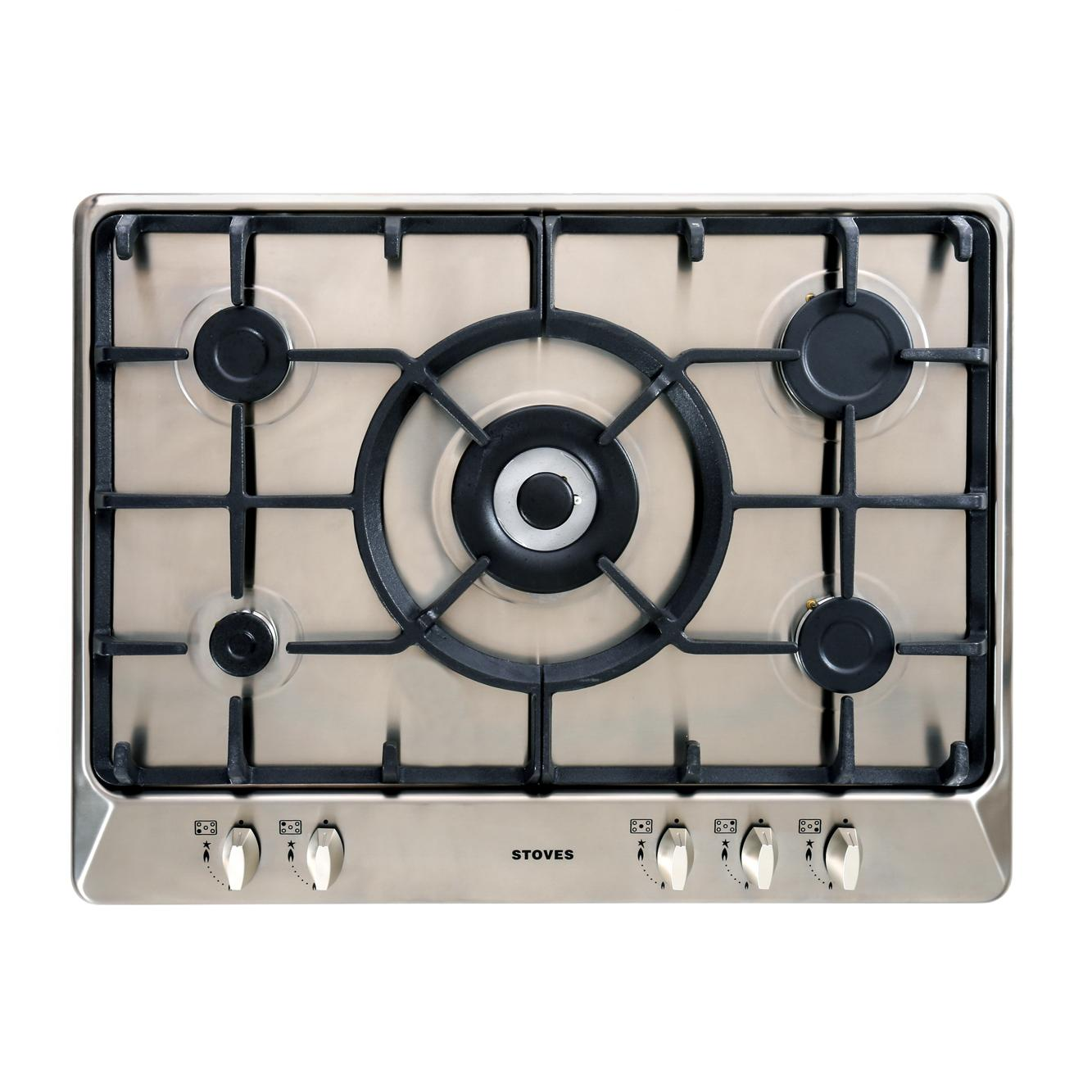 Stoves SGH700C Stainless Steel 5 Burner Gas Hob