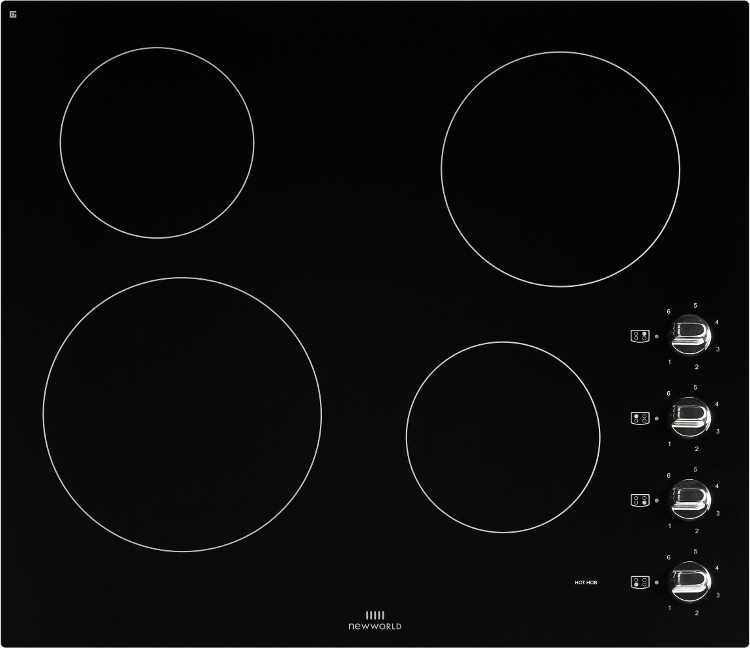 New World CR602 Black Ceramic Hob