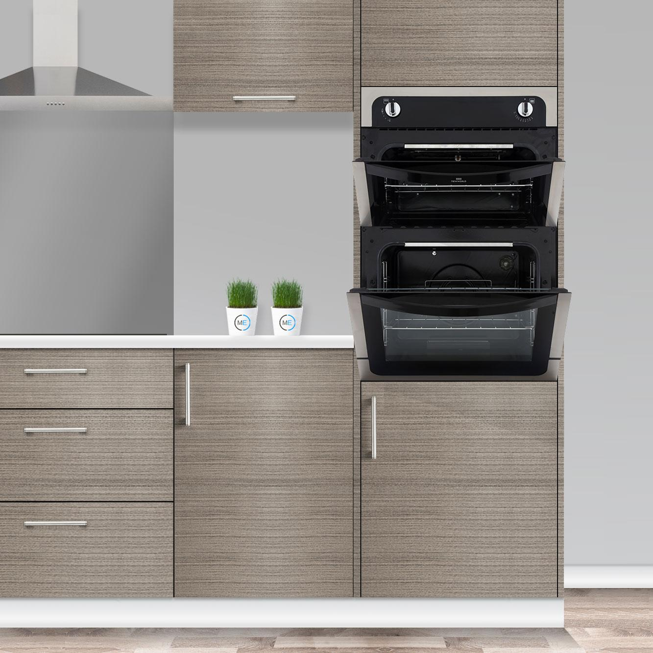Built In Gas Ovens Part - 36: New World 901G Stainless Steel Built In Gas Oven Separate Grill