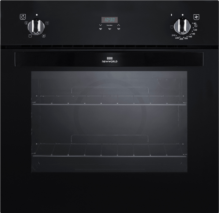 New World NW601FP Black Single Built In Electric Oven