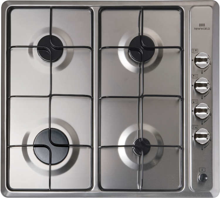 New World NWGHU601 Stainless Steel 4 Burner Gas Hob