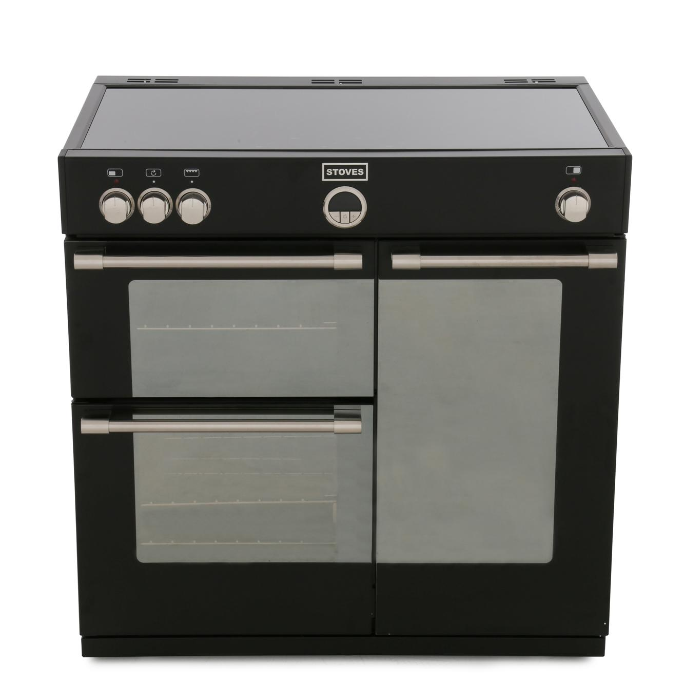 Buy Stoves Sterling 900ei Black 90cm Electric Induction Range Cooker Wiring Oven And Hob