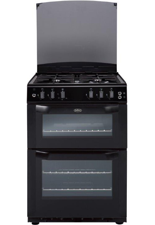 Belling FSG55TCF Black Gas Cooker Separate Grill