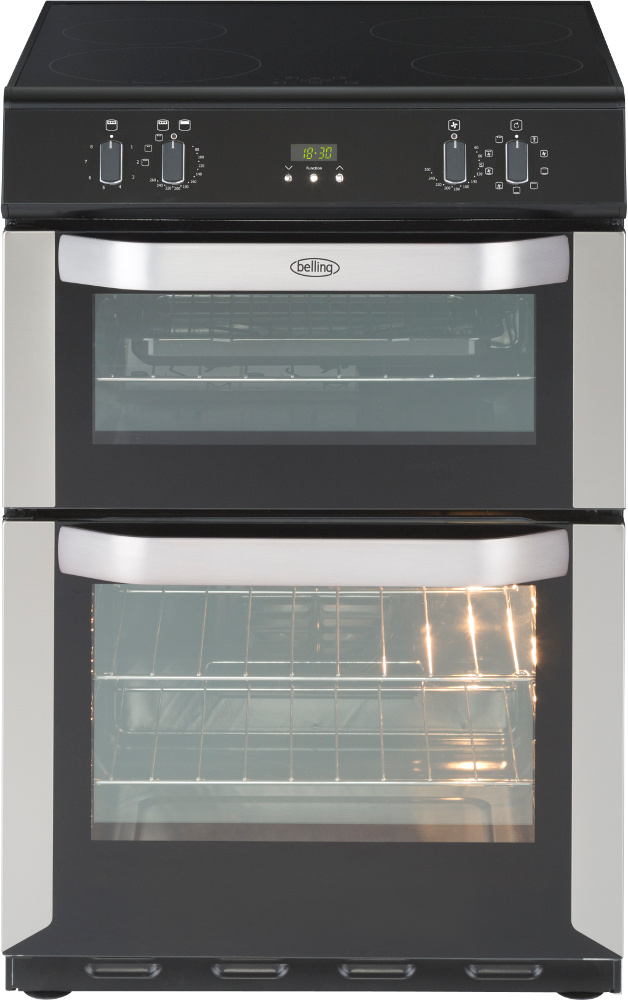 Belling FSE 60 MFTi Stainless Steel Induction Electric Cooker with Double Oven